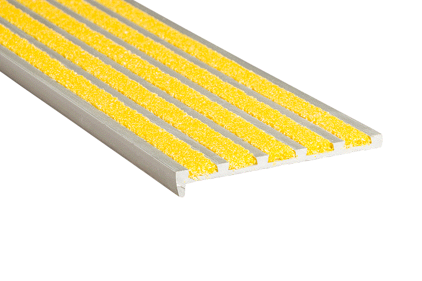 Aalto 5 Yellow Infill 10x75x5mm RC Silver Nosing